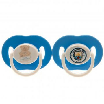 Manchester City Baby Soothers / Dummies (2 Pack)